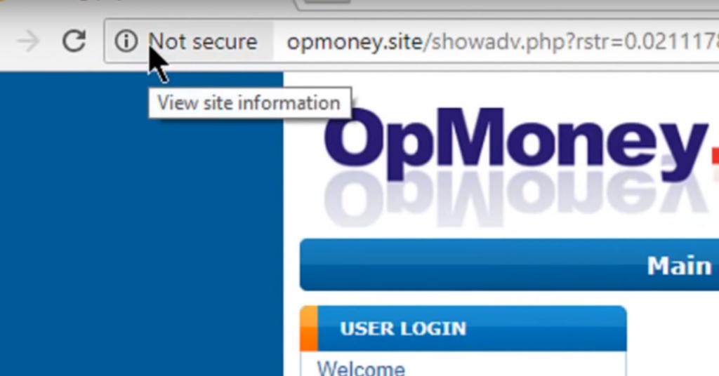 opmoney site without ssl certificate