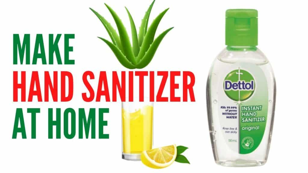 make hand sanitizer at your home