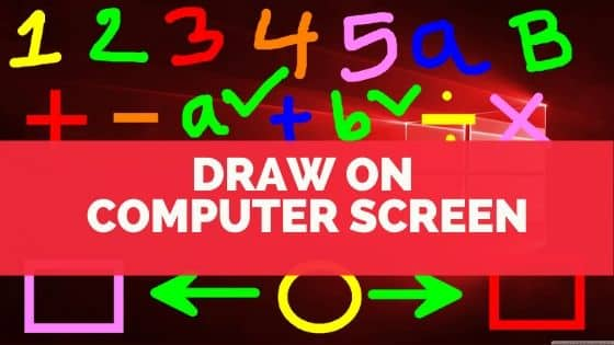 Draw on a computer screen